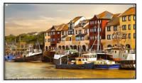 """Whitehaven Harbour at dusk"", Acrylic Print"