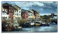 """Elderly boats in Maryport harbour"", Acrylic Print"