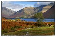 """Golden hour autumn at Wastwater"", Acrylic Print"
