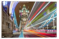 Tower Bridge Whoosh, Acrylic Print