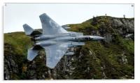 F15c Eagle low level in Wales   , Acrylic Print