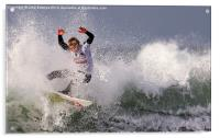 Surfing Action, Acrylic Print