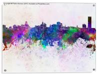 Buffalo skyline in watercolor background, Acrylic Print