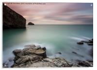 Slow Evening at Trebarwith, Acrylic Print
