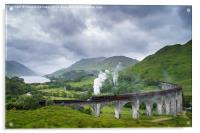 Jacobite Express crossing Glenfinnan Viaduct, Acrylic Print
