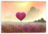 the Little pink heart tree , Acrylic Print