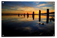 Low tide reflections, Acrylic Print