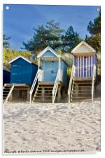 """Beach Huts """"Sand in My Shoes"""" Wells-Next-The-Sea, Acrylic Print"""
