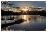 Last Light Over Derwentwater, Acrylic Print
