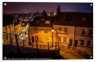 Heading down 199 Steps in Whitby, Acrylic Print
