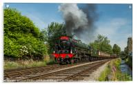 Royal Scot 46100 leaving Haworth, Acrylic Print