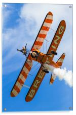 Breitling Wingwalkers Over Cosford, Acrylic Print