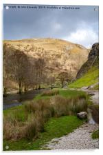 Dovedale and River Dove, Acrylic Print