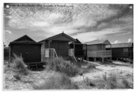 Five Huts at Old Hunstanton, Acrylic Print