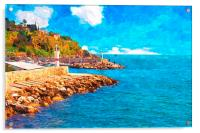 Kaleici harbour in Antalya Turkey, Acrylic Print