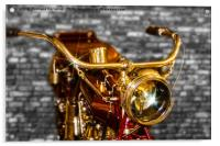 Old Motorcycle , Acrylic Print