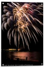Fireworks from Worthing Pier, Acrylic Print