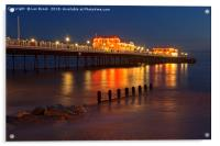 Worthing Pier Night, Acrylic Print