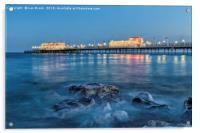 Worthing Pier Blue Hour, Acrylic Print