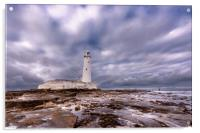 Standing Proudly St. Mary's Lighthouse, Acrylic Print