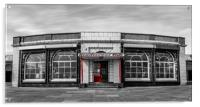 Rendezvous Cafe Beside the Sea Selective Colouring, Acrylic Print