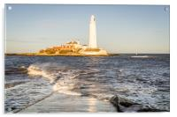 A Winters Day at the lighthouse, Acrylic Print