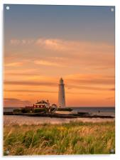 Evening portrait St Mary's at sunset, Acrylic Print