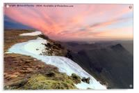 Striding Edge from Nethermost Pike at Dawn, Lake D, Acrylic Print