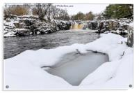 The River Tees at Low Force in Winter, Upper Teesd, Acrylic Print