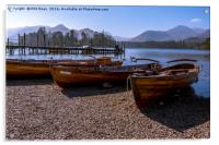Rowing boats at Derwentwater, Acrylic Print