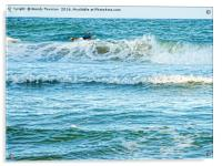 Enjoying the surf in summer, Acrylic Print