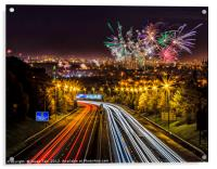 Welcome to Glasgow Guy Fawkes, Acrylic Print