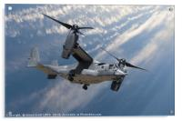 Bell Boeing Osprey V-22 helicopter close up view f, Acrylic Print