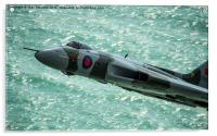 Vulcan XH558 Spirit of Great Britain low over the, Acrylic Print