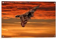 Vulcan into the sunset, Acrylic Print