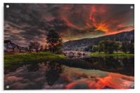Kenmore Sunset, Acrylic Print