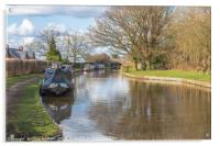 Canal boats on the Macclesfield Canal, Acrylic Print