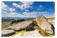 Millstone Edge Rocks - Peak District, Acrylic Print