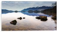 Still Water Over Derwent, Acrylic Print