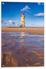 The Point of Ayr Lighthouse, North Wales , Acrylic Print