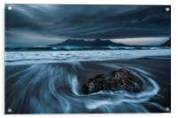Lenticular clouds over the Isle of Rum , Acrylic Print