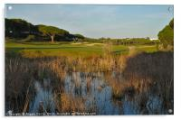 Sunset time in Quinta do Lago, Acrylic Print