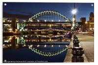 Tyne Bridge At Newcastle, Acrylic Print