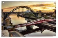 Early Morning in Newcastle, Acrylic Print