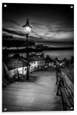 199 steps whitby , Acrylic Print