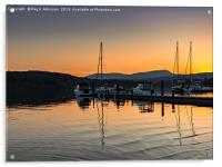 Sunset At Windermere, Acrylic Print