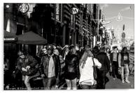 Amsterdam hustle and bustle , Acrylic Print