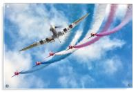 Spitfire leads the Red Arrows Display, Acrylic Print