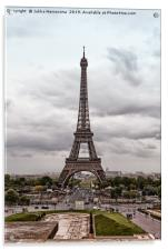 Clouds Over The Eiffel Tower, Acrylic Print