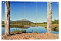 Wooden Swing By A Lake, Acrylic Print